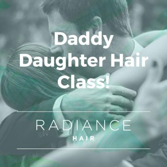 Daddy Daughter Hair Class!